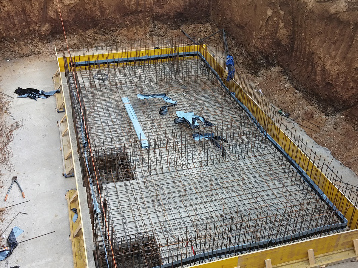 Drainage system of construction hall LEONI Slovakia Ltd